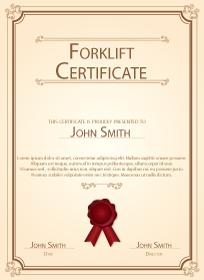 forklift certificate